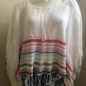 Billabong Cropped Striped Poncho S/M